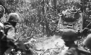 Sherman Tank on New Britain