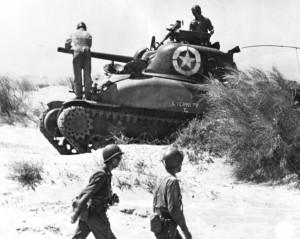 sherman tank in sicily